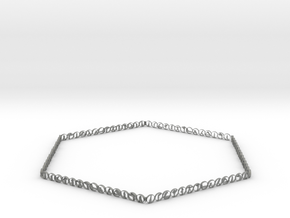 Hexagonal yoga bracelet in Gray Professional Plastic