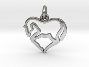 Horse Heart in Natural Silver (Interlocking Parts)