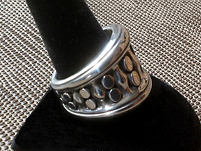 Tentacle Ring - Size 12 (21.39 mm) in Polished Silver
