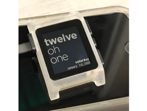 Pebble 2 Smartwatch Replacement Case in Smooth Fine Detail Plastic
