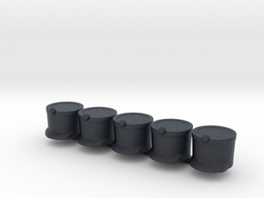 5 x French Shako in Black Professional Plastic