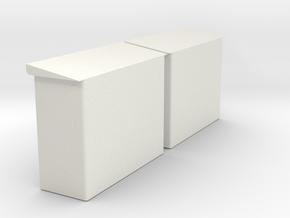 2 x Schaltkasten (Unterstand) mit 11 x Schaltkaste in White Natural Versatile Plastic