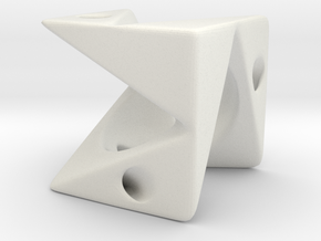 Cube Pendant Type A in White Natural Versatile Plastic: Large
