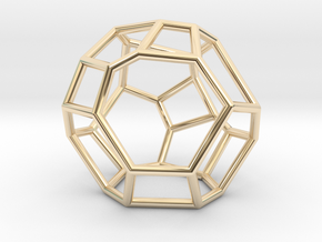 """""""Irregular"""" polyhedron no. 5 in 14k Gold Plated Brass: Small"""