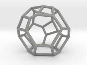 """Irregular"" polyhedron no. 5 in Gray Professional Plastic: Small"