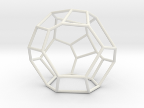 """Irregular"" polyhedron no. 5 in White Natural Versatile Plastic: Large"