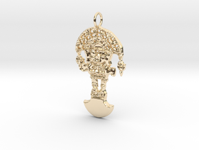 TUMI Pendant in 14k Gold Plated Brass