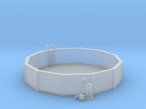 15 Ft. Pool With Ladder & Pool Pump 1-87 HO Scale in Smooth Fine Detail Plastic