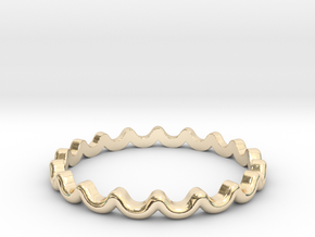 Dainty Water Ripple Ring (Multiple Sizes) in 14K Yellow Gold: 5 / 49