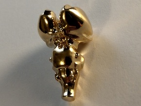 Brainstem Pendant in 18k Gold Plated Brass