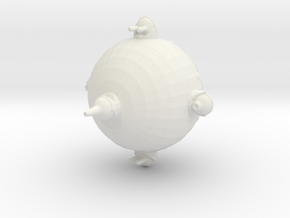 Galactic Patrol Destoryer In Flight in White Natural Versatile Plastic: Medium