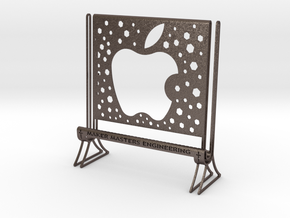 I PAD TABLET STAND in Polished Bronzed-Silver Steel
