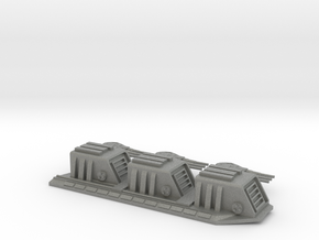 1/5000 Star Destroyer Devastator Dorsal Turrets (s in Gray Professional Plastic