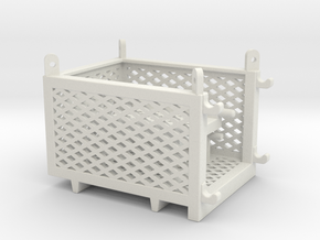 cargo basket 5x4x3 ft.- movable door - 1:50 in White Natural Versatile Plastic