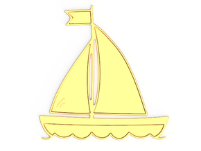 Boat Pendant in Polished Brass