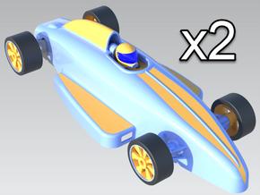 1:24 Retro Formula Ford Digital - 2 Cars in White Natural Versatile Plastic