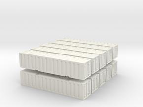 1:350 scale_container_combo in White Natural Versatile Plastic