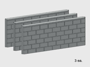 5' Block Wall - 3-Med Jointed Splices in White Natural Versatile Plastic: 1:87 - HO