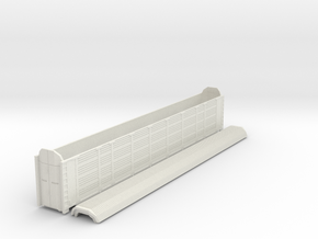 89´ Enclosed Auto Carrier in NScale in White Natural Versatile Plastic