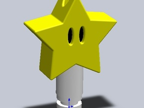 Star Drip Tip in Yellow Processed Versatile Plastic