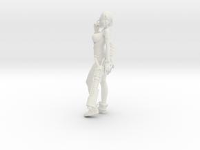 1/18 Sci-Fi Girl Anzu w Pistol and Rifle in White Natural Versatile Plastic