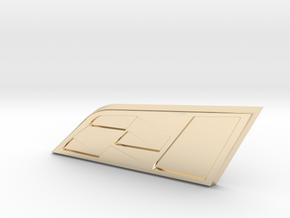 Cupra Flag 35mm (Medium) in 14K Yellow Gold