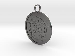 Seere Medallion in Polished Nickel Steel