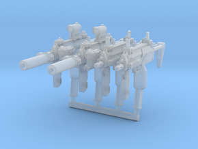 4x MP7Brick tactical configurations in Smoothest Fine Detail Plastic