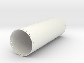Casing joint 2000mm, length 6,00m in White Natural Versatile Plastic