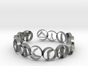 18.11 mm ring in Natural Silver (Interlocking Parts)