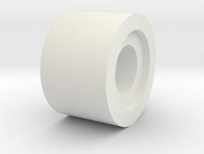 03.03.03.06 Elev Spring Belcrank Spacer in White Natural Versatile Plastic