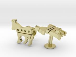 Democrat Cufflinks in 18k Gold Plated Brass