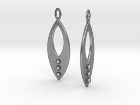 Mandorla Warrior Earrings in Natural Silver