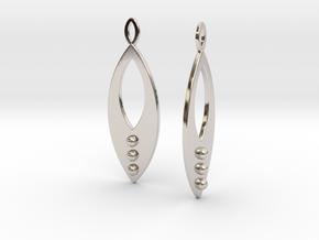 Mandorla Warrior Earrings in Rhodium Plated Brass