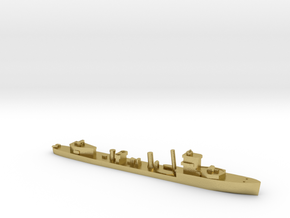 HMS Vega 1:1800 WW2 naval destroyer in Natural Brass