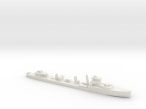 HMS Vega 1:1200 WW2 naval destroyer in White Natural Versatile Plastic