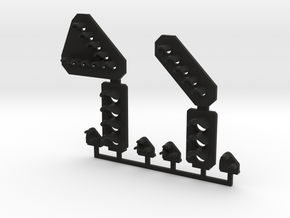 N Gauge Signal Head Selection in Black Natural Versatile Plastic