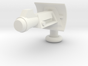 Brick Scale Sci-Fi Ray Gun in White Natural Versatile Plastic