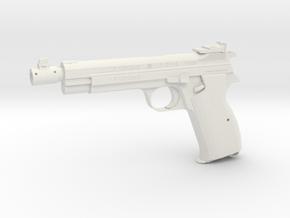 1:6 Miniature SIG P210 Gun in White Natural Versatile Plastic