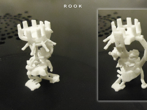 ROOK in White Natural Versatile Plastic