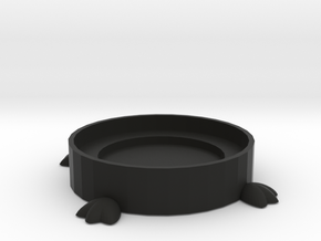 Bird Feet Coaster in Black Natural Versatile Plastic