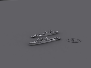 1/1800 Town-class Destroyers [UK;1943] (x6) in White Natural Versatile Plastic