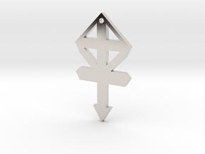 gmtrx f110 cross symbol 1 in Rhodium Plated Brass