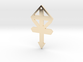 54mm gmtrx f110 cross symbol 1 in 14k Gold Plated Brass