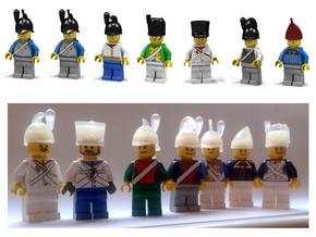7 x Napoleonic Helmets in White Acrylic