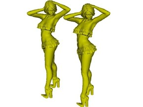 1/32 scale nose-art striptease dancer figure A x 2 in Smooth Fine Detail Plastic
