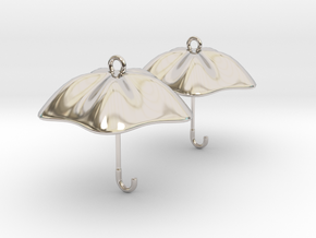 The Golden Umbrella in Rhodium Plated Brass