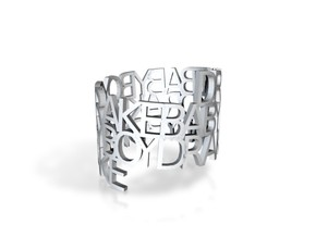 Ring Poem Drake in White Natural Versatile Plastic