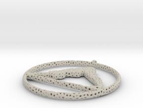 voronoi yoga pendant more holes in Natural Sandstone