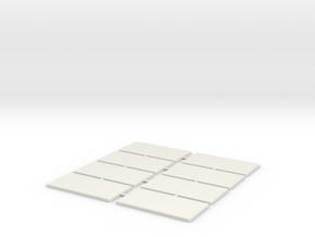 Napoleon Infantry Base 2cm x 4cm 8 Pack in White Natural Versatile Plastic